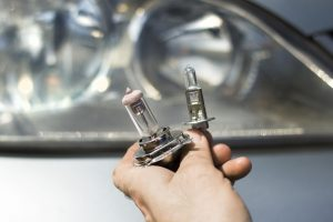 Different types of vehicle light bulbs.