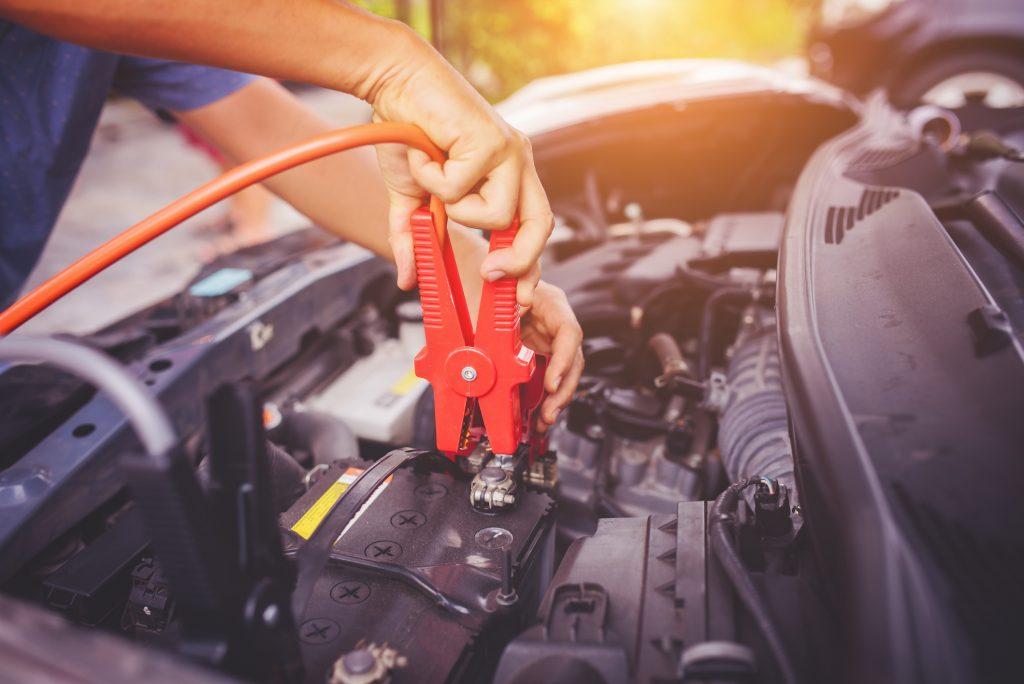 Replacing car battery.
